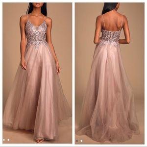 Lulu's Giselle Mauve Pink Embroidered Maxi Dress